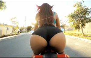 Do Not Attempt! This Bombshell Risks Her Life To Twerk On Motorcycle (NSFW)